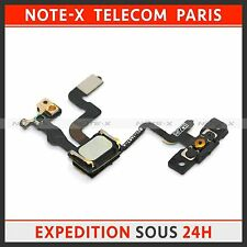 Proximity Sensor And Power Button Flex Cable + Earpiece Speaker For iPhone 4S