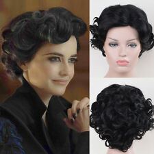 Miss Peregrine's Home for Peculiar Children cosplay short black curly wigs