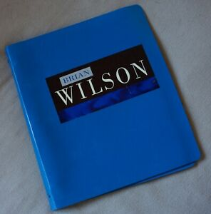 BRIAN WILSON rare 1988 self-titled SOLO ALBUM PRESS KIT binder 31 pages w photos