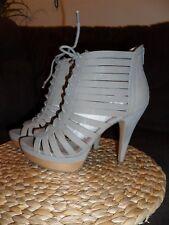 Miss Sixty Grey Jerie Platform Bootie , Size 38.5