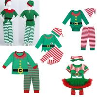 Baby Santa Fairy Costume Christmas Toddler Kids Boys Girls Fancy Dress Outfits