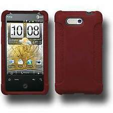 AMZER Silicone Soft Skin Jelly Fit Case Cover for HTC Aria - Maroon Red