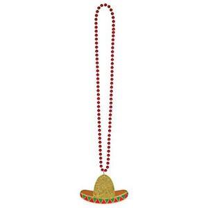 Glitter Sombrero Adult 36 Inch Cinco De Mayo Plastic Necklace