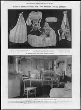 1907 Antiguo Print-España Royal Infantil Layette vivero cuna Alfonso (310)