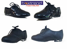 NEW GIRLS BLACK SCHOOL SHOES BROGUES KIDS JUNIOR INFANT PARTY SMART FORMAL LACE