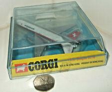 Rare Vintage Corgi Aircraft, 1325 Douglas DC-10 Diecast Model for Swissair.
