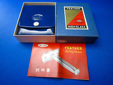 FEATHER No.1500 Humpback Slant Safety Razor Early 1960's With Box  Unique &  New