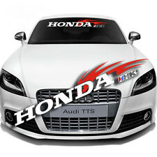 Front Back Windshield Decal Car For Honda HKS Window ReflectIve Banner Sticker