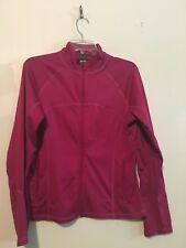 Champion Women Magenta Full Zip Athletic Workout Fleece Size M