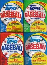 TOPPS MLB 1986 '87 '88 '89 '90 (8) Sealed & Unopened wax packs