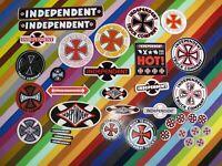 vtg 1980s Independent Trucks skateboards sticker - FW Superwide #HOT! Iron Cross