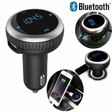 Bluetooth FM Transmitter Radio Adapter Car USB Charger For Samsung S7 S8 LG G6 5