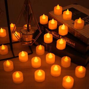 Flameless LED Candle Battery Operated Tea Lights Flickering Celebrate Wedding UK