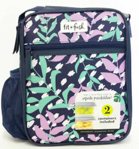 Fit And Fresh Saybrooke Insulated Lunch Bag Kit, 8 X 6 X 10, Floral Pa