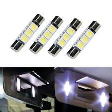 4x HID 3-SMD 31mm 6641 Fuse LED Lights Bulbs Vanity Mirror Sun Visor Lamp White