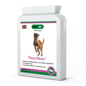 Flexi-Paws Mobility Supplement for Stiff Hips Joints in Dogs Cats Pets 120 Tabs