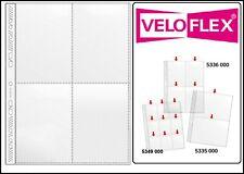 100 Veloflex A4 Sammelhüllen Prospekthüllen Kartenhüllen 140 my 4x A6 10x15 cm