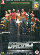 DHOOM 1 & 2 & 3 - YRF 3 FILMS 4 DVDS BOLLYWOOD STEELBOOK SET BOX