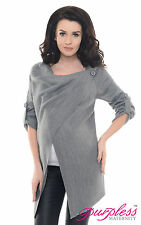 Purpless Maternity 2 in 1 Pregnancy and Nursing Sweater Cardigan Coat B9005 Dark Gray 8/10