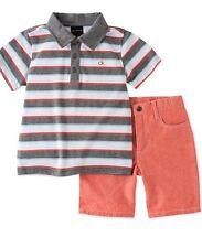 Calvin Klein Little Boys 2-Piece Striped Polo & Shorts Set Size 6T