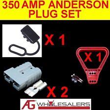 350 AMP ANDERSON STYLE PLUG SET  PLUGS  DUST CAP HANDLE 350a