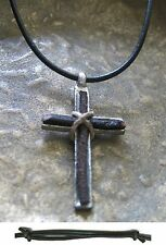 Men's Necklace cross Men Vintage Pendant Leather