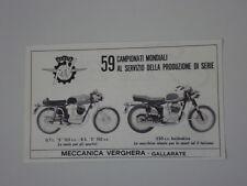 advertising Pubblicità 1970 MOTO MV AGUSTA GTL S 125 - RS S 150 - 250