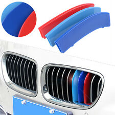 11 Bar Front Kidney Grille M Color Cover Clip For BMW 3 Series F30 F31 13-17