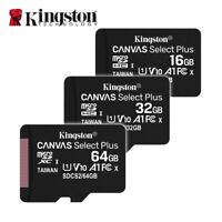Kingston 16GB 32GB 64GB A1 MicroSD SDHC SDXC UHS-I C10 TF Memory Card 100MB/s
