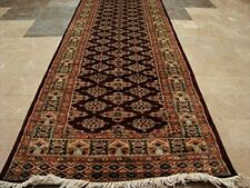 Dark Red Lovely Jaldar Ivory Touch Hand Knotted Soft Runner Rug (12.0 x 2.6)'