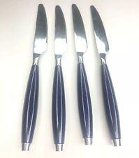 E Lot 4 Fiesta Royal Navy Blue Stainless Knives Vtg Retro