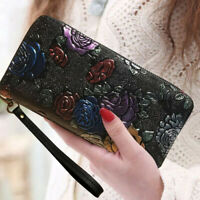 New Women Fashion Casual Long Leather Wallet Ladies Handbag Card Phone Bag Purse