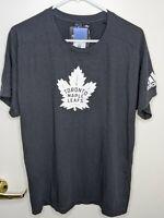 Men's Adidas Toronto Maple Leafs Black Stadium T Shirt S/S Size Large L NHL