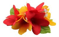 Hawaiian Foam LILY Flower PinUp Wedding Hair PICK RED Prom Luau Party Bridal NWT