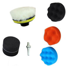 "8pc 3"" Gross Polish Polishing Buffer Pad Kit With Drill Adapter For Car Polisher"