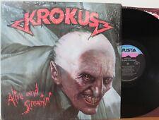 """Krokus LP """"Alive And Screamin"""" ~ Arista 8445 ~ VG++ in Shrink"""