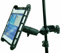 """Music / Microphone Stand Tablet Clamp Mount Holder for Galaxy Tab 4 10.1 & 8"""""""