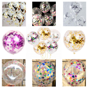 """CONFETTI FILLED BALLOONS 12""""/ 36"""" Large Helium Quality Party Wedding Decorations"""