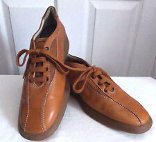 TOD'S Bicycle Toe Leather & Suede Oxford Driving Shoes Unisex Size 39