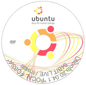 "Ubuntu 20.04.1 -  ""FOCAL FOSSA"" - LTS - Linux OS - LIVE & INSTALL - DVD - 64-Bit"
