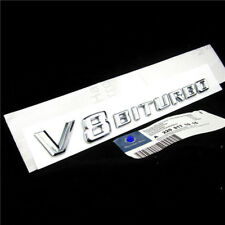 1PC*Chrome Side Fender Sticker Emblem Badge OEM V8BITURBO For All Mercedes-Benz