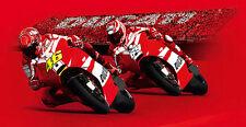 DUCATI Fanpaket Tribuna Ducati MOTO GP T-Shirt Cap Tasche Poster HAYDEN & ROSSI
