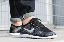nike free 4.0 flyknit running sneaker schuhe sport freizeit größe uk 9 (44) schwarz