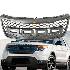 Fits 2016-2019 Ford Explorer Bumper Stainless Steel Chrome Billet Grille Insert