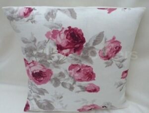 """Lovely Laura Ashley Designer Cushion Cover """"ROSES CASSIS"""" Fabric Various Sizes"""