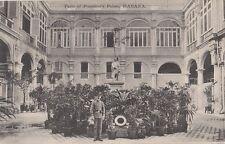 B78039 patio of president palace habana havana cuba scan front/back image