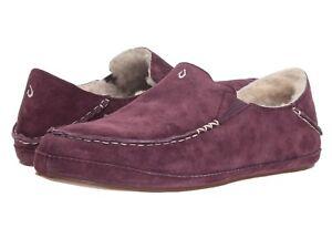 Women's Shoes OluKai Nohea Slipper Sheepskin Loafers 20269-MXMX MYSTIC BERRY