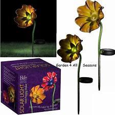 ORANGE Mini POPPY Solar Light Garden Stake Creekwood Regal Art & Gift Boxed