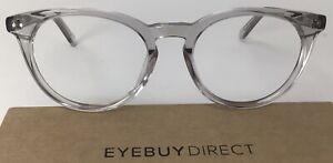 Eyebuydirect Morning 51-19-140 C4 Gray Clear Acetate Eyeglasses FRAMES ONLY C10