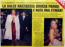 NASTASSJA KINSKI => 1 page 1979  ITALIAN CLIPPING !!!